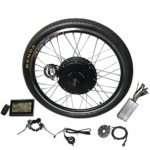 NBPower Electric Bike Kit 26inch Rear Hub Motor,48V E-Bike Kit 1500W Wheel Motor Electric Bicycle Conversion Kit with 7S flywheel and LCD Display