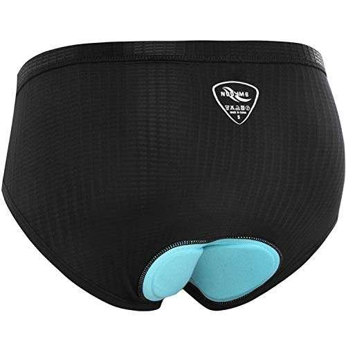 NOOYME Women Bike Underwear Gel 3D Padded Printed Design Bicycle Briefs Cycling Underwear Shorts