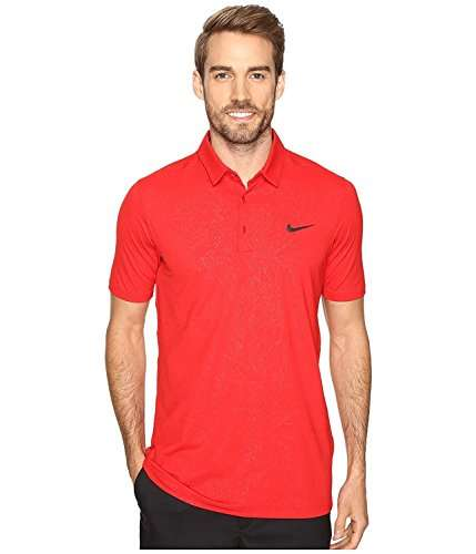 Nike Golf Mens Embossed Short Sleeves Shirts & Tops Red S