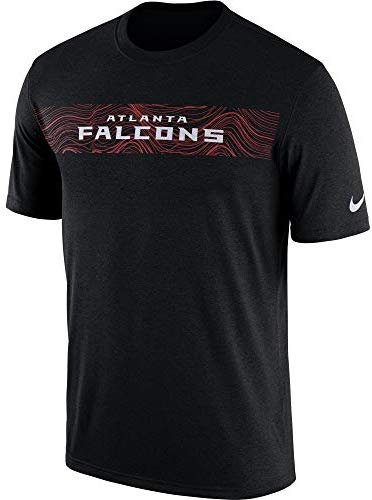 Nike Men's Atlanta Falcons Black Sideline Seismic Legend Performance T-Shirt