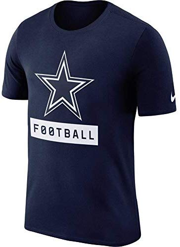 Nike Men's Dallas Cowboys Navy Logo Performance Dri-Fit T-Shirt