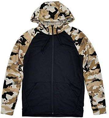 Nike Men's Dri Fit Lightweight Camo Fleece Full Zip Hoodie
