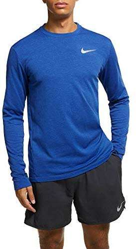 Nike Mens Dry Element L/S Crewneck Running Top Deep Indigo Force/Metallic Silver AH8977-438