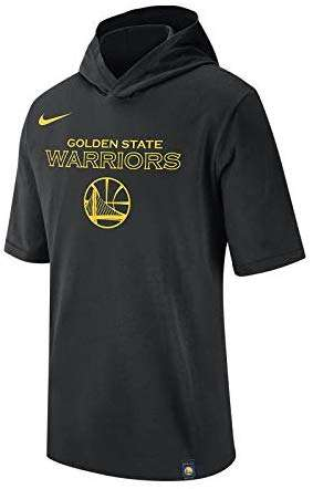 Nike Men's Golden State Warriors Hooded Short Sleeve T Shirt