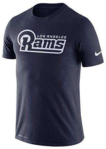 Nike Men's Los Angeles Rams Dri-FIT Cotton Essential Wordmark T-Shirt