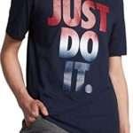 Nike Men's Sportswear Just Do It USA Graphic T-Shirt, (Obsidian/White, M)