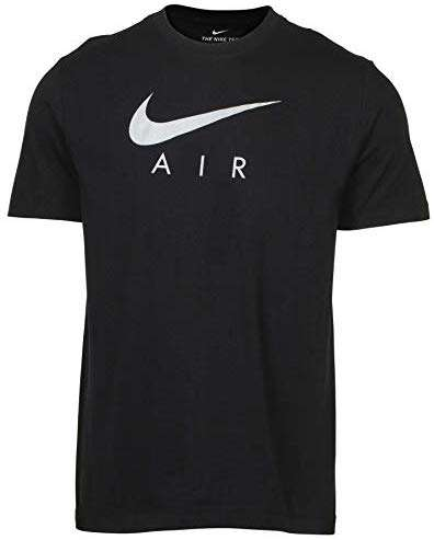 Nike Men's Swoosh Air Metallic Graphic Tee (Small, Black)