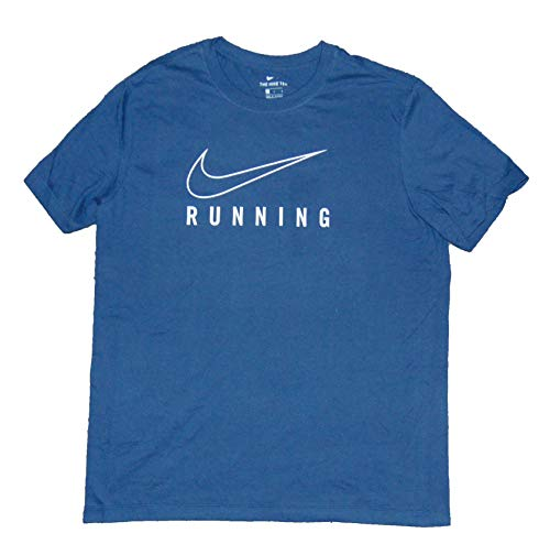 Nike Men's Swoosh Logo Running T Shirt Cotton Gray
