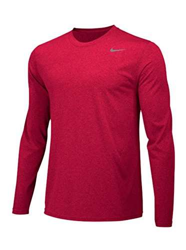 Nike Men's Team Legend Long Sleeve Training Top - University Red/Cool Grey - 727980-657 - SZ. Large