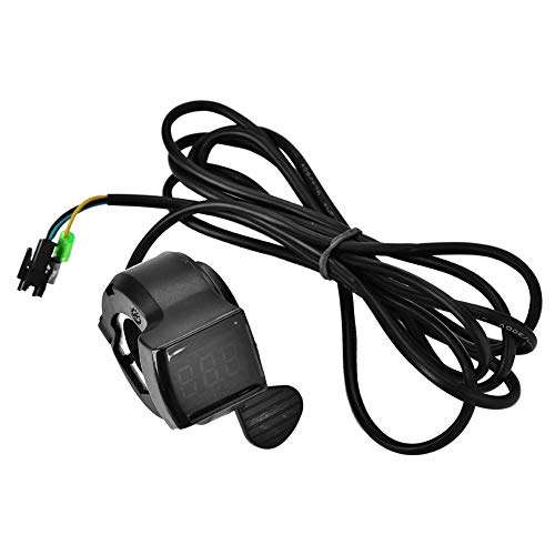 Nikou Scooter Throttle 12V - 99V Ebike Throttle Speed Control with LCD Battery Voltage Display Accessory
