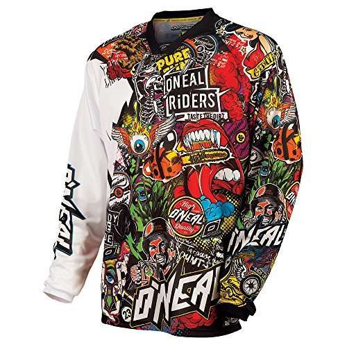 O'Neal Mayhem Crank Men's Jersey (Black/Multi, Medium)