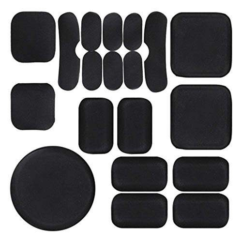 PAXLamb Universal Airsoft Helmet Pads 19pcs/Set Tactical Helmet Replacement EVA Foam Insert Motorcycle Padding Kits Bicycle Bike Accessories Mats for Fast Mich CS ACH FMA USMC PASGT