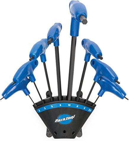 Park Tool PH-1.2 P-Handled Hex 8pc Wrench Set + Holder