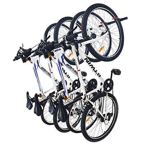 Qualward Bike Wall Mount Storage Rack for Garage & Home Bicycle Hanger - Hanging 4 Bicycles, 2 Pack