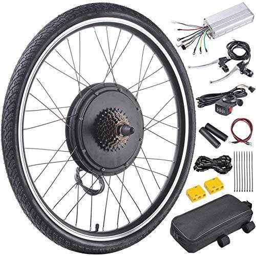 "RAYKUNRONG 48V 1000W 26"" Electric Bicycle Motor Conversion Kit Rear Wheel E-Bike Cycling Hub"