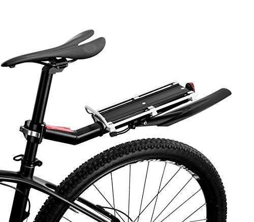 ROCK BROS Bicycle Bike Commuter Carrier Rack for Seatpost Bike Rack Bicycle Seat Rack with Fender Quick Release Road Bike Rack Universal