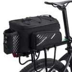 ROCK BROS Bike Trunk Bag Bicycle Rack Rear Carrier Bag Commuter Bike Luggage Bag Pannier with Rain Cover
