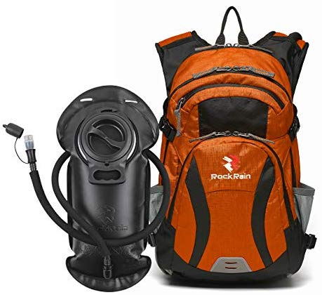 ROCKRAIN WindSeeker Insulation Hydration Cycling Backpack Pack with 2.5L BPA Free Leak Proof Water Bladder, Sufficient Storage Space for Outdoor Gear- Perfect for Cycling