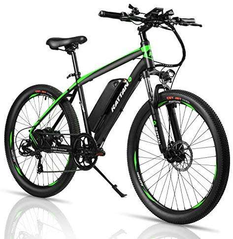 Rattan 26 inch Aluminum Electric Mountain Bike 7 Speed E-Bike 36V 10.4Ah Lithium Battery 350W Electric Bicycle 26 inch Adult Assisted E-Bike