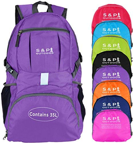 S & P Packable Foldable Folding Travel Sport Beach Backpack