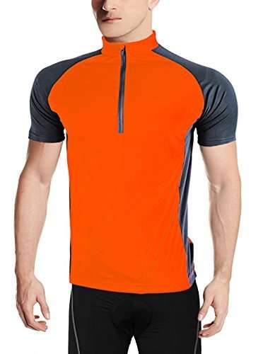 SWISSWELL Men's Quick Dry Bicycling Jersey with Back Patch Pocket