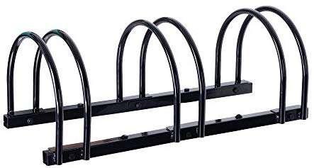 Sandusky BR4205 3-Bike Standing Bike Stand, Black