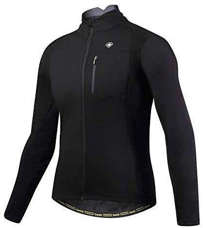 Santic Bike Winter Jacket Windproof Fleece Thermal Warm UP Cycling Bicycle Jerseys Long Sleeves