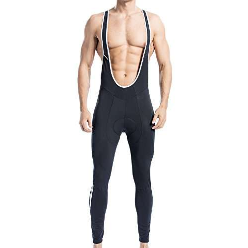 Santic Cycling Bib Tights Winter Padded Long Pants Compression Bib Pants
