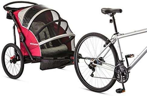 Schwinn Joyrider Double Bicycle Trailer, Red