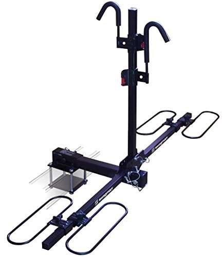 Swagman Traveler XC2 RV Bike Rack with Bumper Mount Adapter - RV Approved - Double Bicycle Racks for Trailer Hitch or Mount