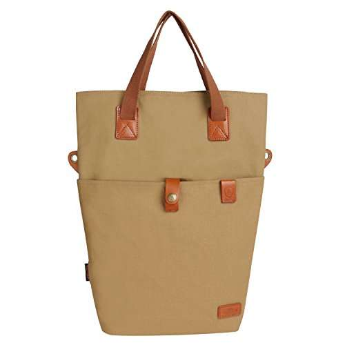 TOURBON Canvas Clip-On Quick-Release Bike Panniers Women's Shoulder Tote Bag
