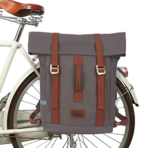 TOURBON Waterproof Bike Laptop Pannier Rear Rack Bicycle Backpack for Men Women