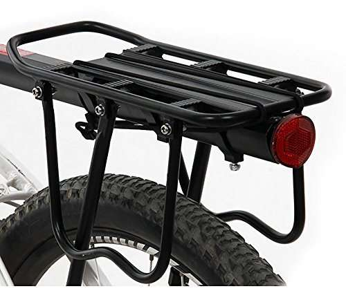 ThreeH Bicycle Rear Rack Adjustable Aluminum Alloy Bike Rack with Reflector BK431