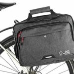 Two Wheel Gear - Pannier Briefcase Convertible - Waterproof Coated - 2 in 1 - Bike Commuting & Laptop Bag