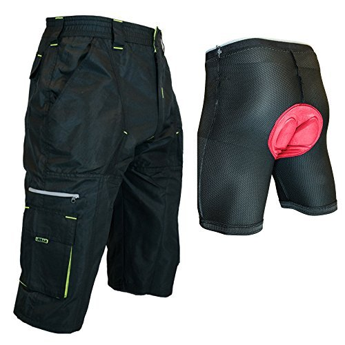Urban Cycling Apparel The Gravel Long Shorts - Long Mountain Bike MTB Baggy Shorts with 7 Pockets