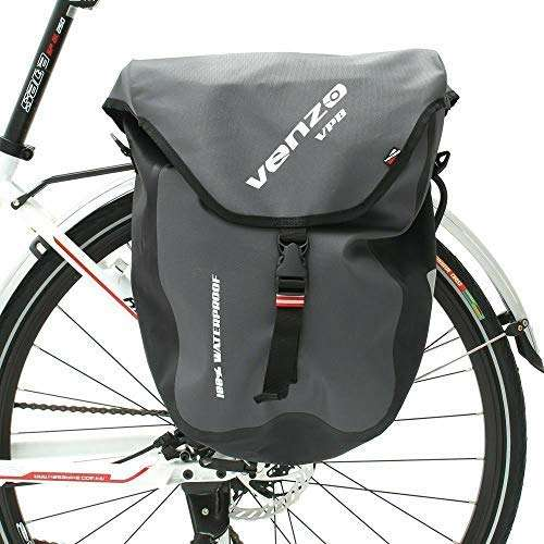 Venzo 600D TPU or Polyester Waterproof Bike Bicycle Rear Rack Pannier Bag