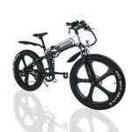 W Wallke 26 inch Fat Tire EBike 48V10.4AH Snow e-Bike 750W Mountain Electric Bicycle 48V Adult Auxiliary E-Bike Folding