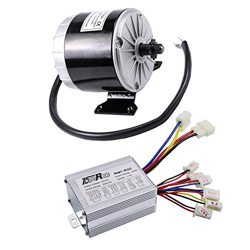 WPHMOTO 350W 24V DC Brushed Electric Motor with Controller Kit for e-Bike Scooter Go Kart Bicycle