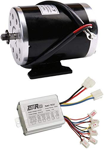 WPHMOTO 500W 24V DC Brushed Electric Motor with Controller Kit for e-Bike Scooter Go Kart Bicycle