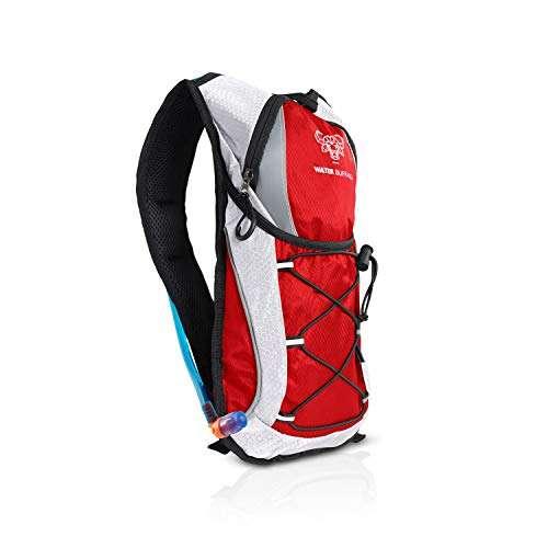 Water Buffalo Hydration Backpack Pack with 2 Liter Hydration Bladder - Lightweight Water Backpack - for Hiking, Running, Cycling, Mountain Biking & More