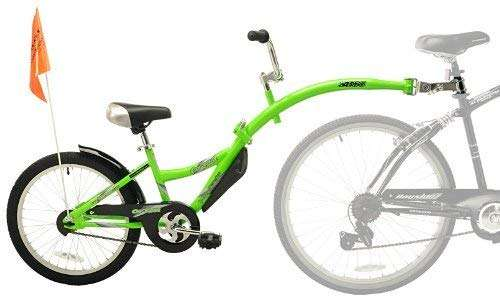 WeeRide Kids Co Pilot Tagalong Trailer Bike - Fluoro Green, 20 Inch by Wee-Ride