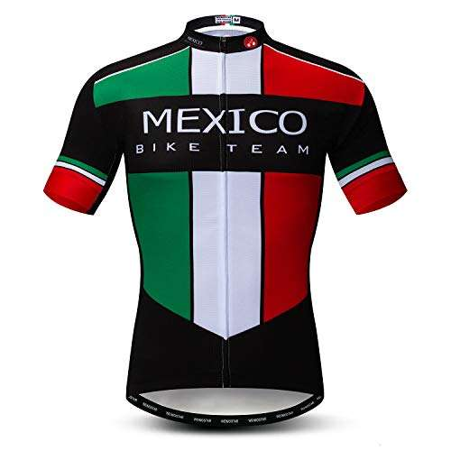 Weimomonkey Men's Cycling Jerseys Tops Biking Shirts Short Sleeve Full Zipper Bike Clothing