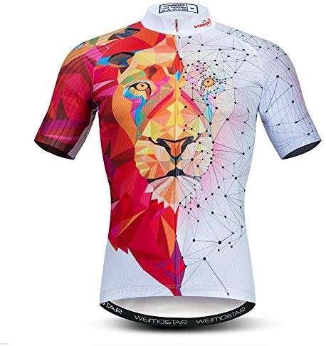 Weimostar Men's Cycling Jersey Short Sleeve Breathable Biking Shirt