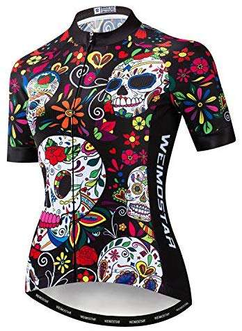 Weimostar Women's Cycling Jersey Short Sleeve Quick-Dry Breathable Biking Shirt Reflective