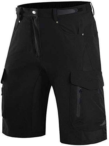 Wespornow Men's-Mountain-Bike-Shorts-MTB-Cycling-Shorts with Zipper Pockets