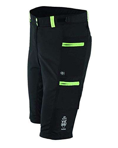 Women Modest Baggy Mountain Bike Cycling Shorts -Off Road Cargo Pants- Padded Liner - 6 Pockets