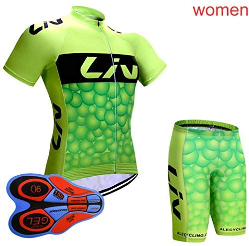 Women Short Sleeve Cycling Jersey Set Pro Summer 9D Suit MTB Sports Uniform Bike Shirt Bib Short