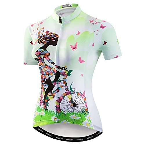 Women's Cycling Jersey Bike Shirts Short Sleeve Ladies Bicycle Clothing MTB Cycle Jacket