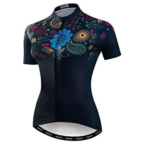 Women's Cycling Jersey, Short Sleeved Bike Shirt Mountain Jersey Comfortable Quick Dry Wear Top