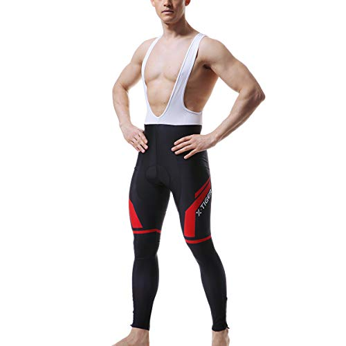 X-TIGER Men's Cycling Bike Bib Shorts/Pants,5D Pro Gel Padded Compression Bike Tights Breathable Bicycle Pants